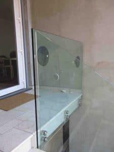 Parapetti in vetro per interno